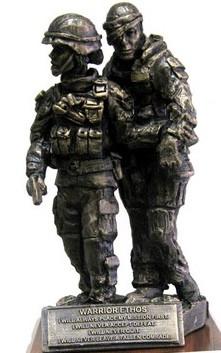 Warrior ethos military statue