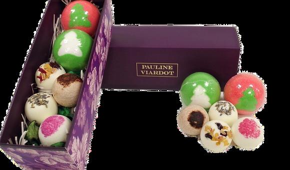 Gift set 2 Bath balls and 4 Bath creamers