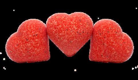 Bath ball Heart Strawberry