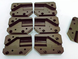Aluminum Parts Milled and then Plated with Black Anodize
