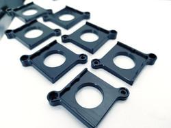black anodize | 6061 aluminum | precision machining
