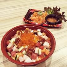 Bara Shirachi Don with Salmon Spicy Salad
