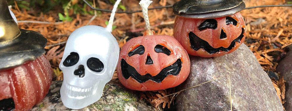 Halloween candles pumpkins skulls mix your own set