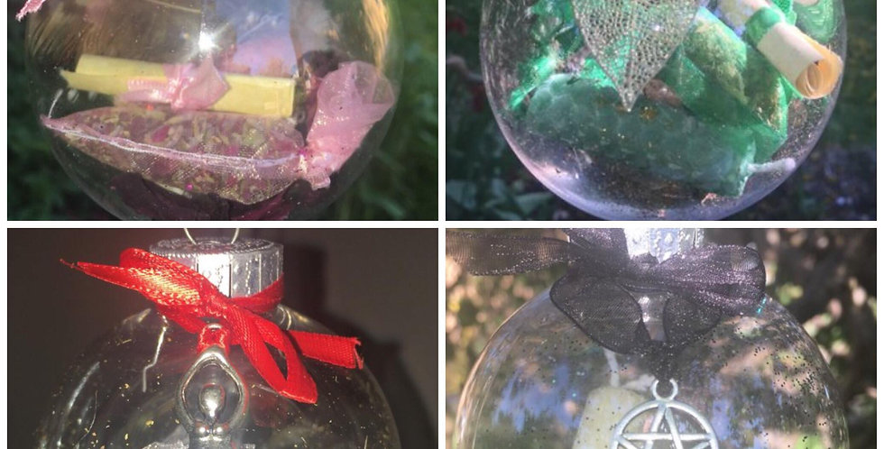 Witch spell ball/bauble for love, money, fertility or protection