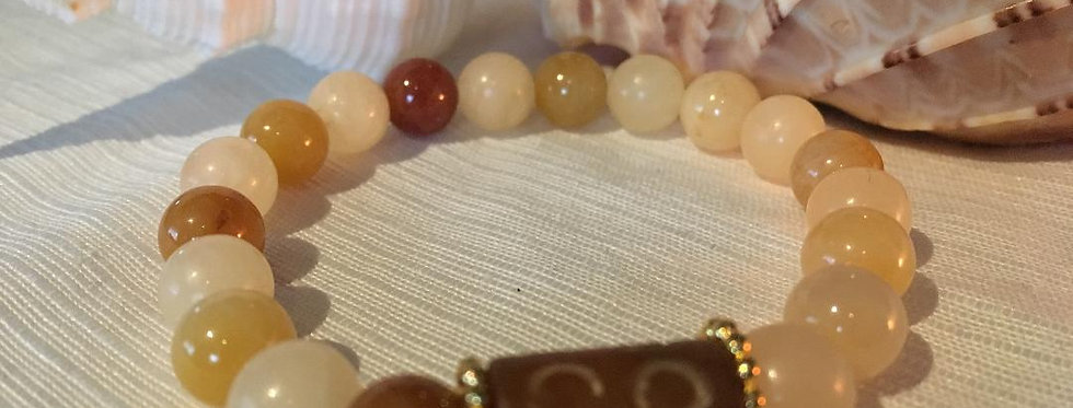 Emotional and Spiritual healing  bracelets made of real 8 mm gemstone