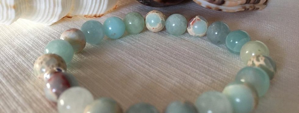 Stress relief and shamanic healing  bracelets made of real 8 mm gemstones beads