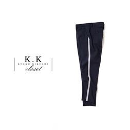 STRETCH WOOL TROUSERS@K.K closet