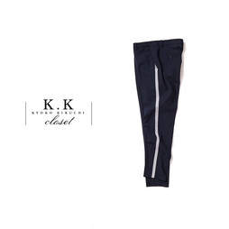 STRETCH WOOL TROUSERS@K.K closet