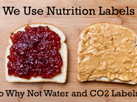 Labels: like nutrition facts, water and GHG facts will change consumer - and producer - behaviour