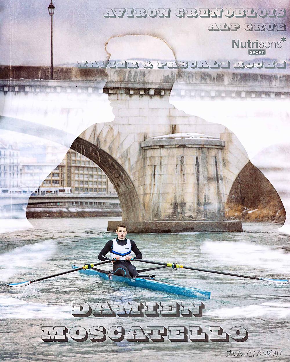 Création d'une affiche d'aviron, sur l'Isère à Grenoble