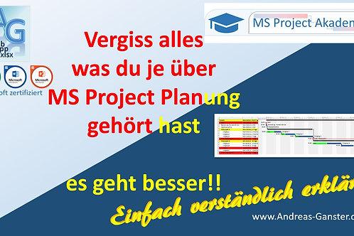 "Online Seminar ""Der perfekte MS Project Plan"""