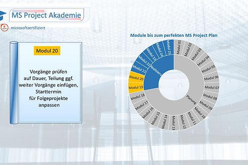 Schritt 20 zum perfekten MS Project Plan