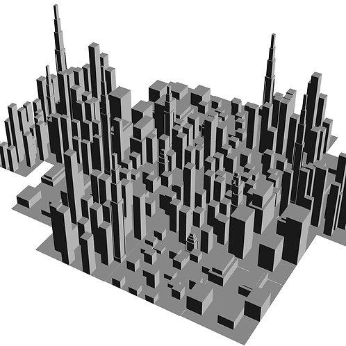 Cidade 3D lowpoly