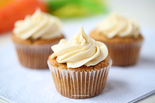 12 ($1.50 each) Vegan/Gluten Free Carrot Cupcakes
