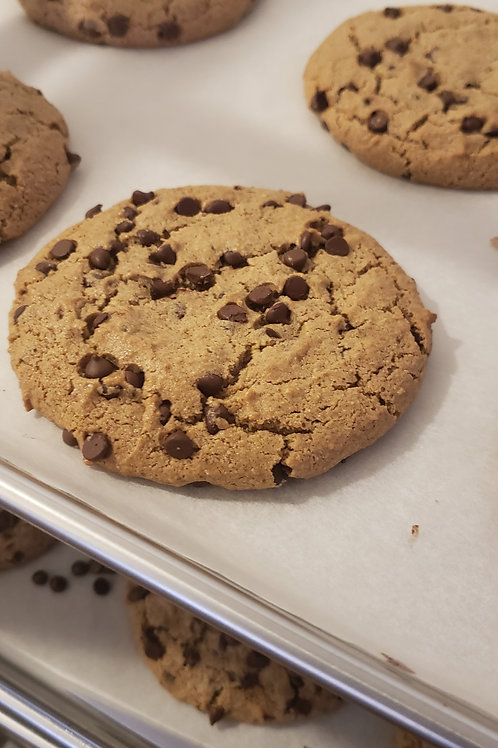 6 ($4.50 each) Vegan/Gluten Free Chocolate Chip Cookies