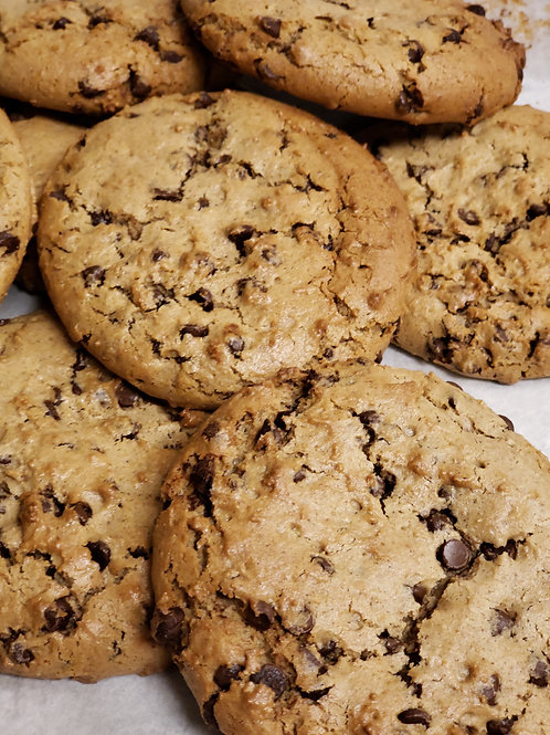 6 ($4.50 each) Vegan/Gluten Free Peanut Butter Chocolate Chip Cookies