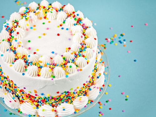 "8"" Vegan/Gluten Free Vanilla Cake"