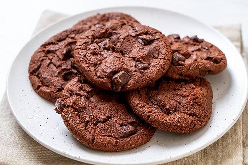 6 ( $4.50 each) Vegan/Gluten Free Double Chocolate Chip Cookies