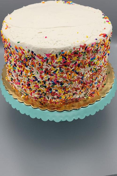 "8"" Vegan/Gluten Free Funfetti Cake"