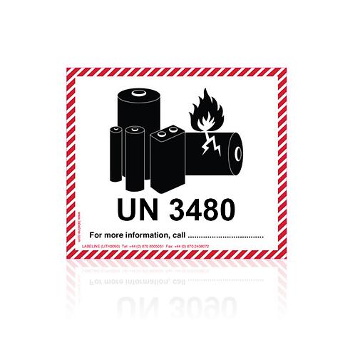 Lithium Battery Labels UN3480