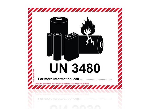 Lithium Battery Labels UN3480