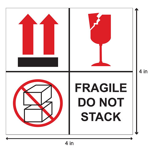 Fragile Keep Dry Labels
