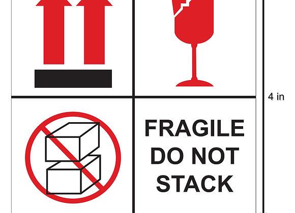 Fragile Keep Dry Labels
