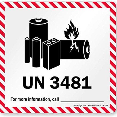 Lithium Battery Labels UN3481