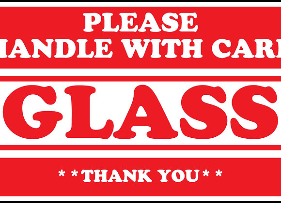 Glass Please Handle with Care Labels