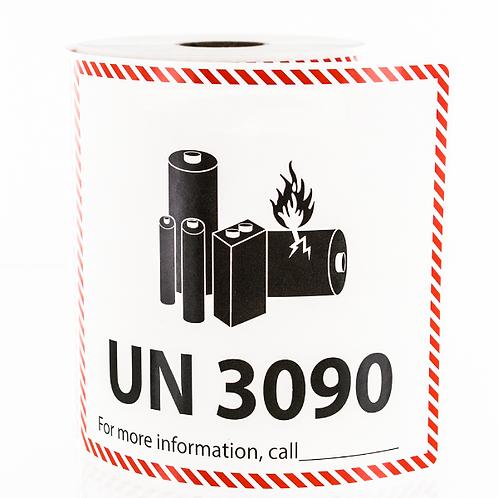 Lithium Metal Battery Labels UN 3090