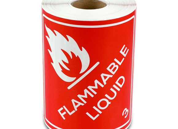Flamable Liquid Labels D.O.T hazardous Material