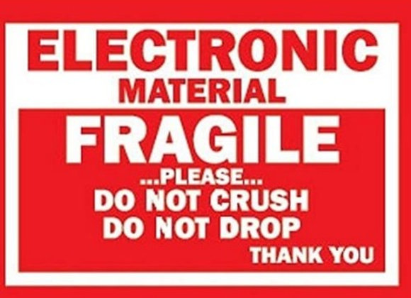 Electronic Material Fragile Labels