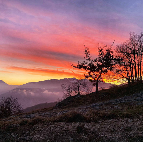 Uno dei tramoni invernali a Selucente
