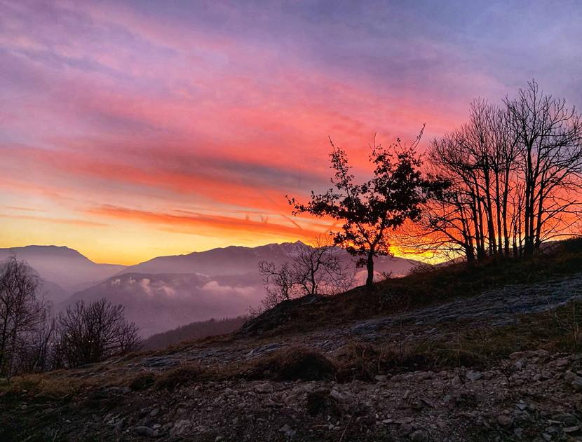 Il tramonto a Selucente