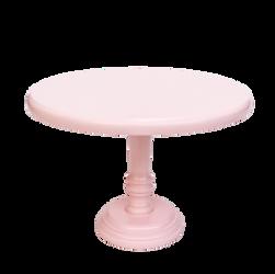 Prato de bolo rosa
