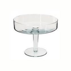 Taça de vidro com pé