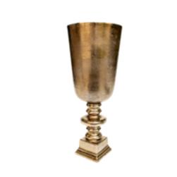 Vaso dourado redondo