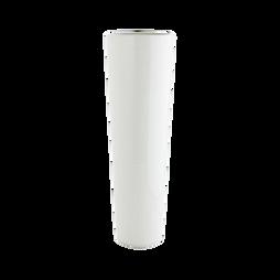 Vaso branco cónico