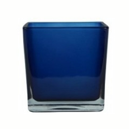Cubo azul espelhado