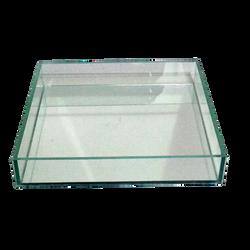 Travessa de vidro quadrangular