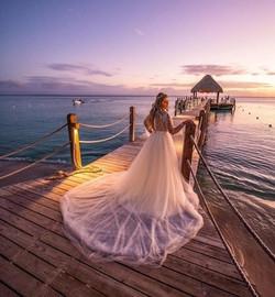 Noiva Kath diva neste pôr do sol incrível- Playa de Bayahibe