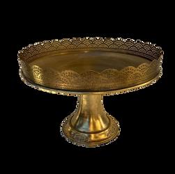 Taça dourada rendilhada