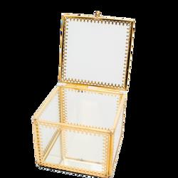 Caixa de vidro quadrada