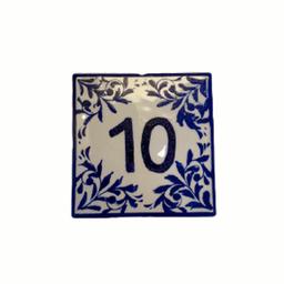 Marcador de mesa em azulejo