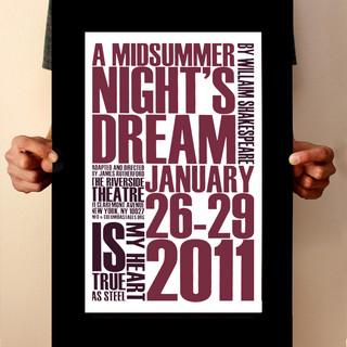 Midsummer Nights Dream Poster Design
