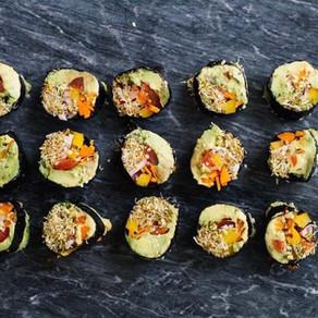 Nori Sushi Roll with Walnut Paté + Cilantro Sauce
