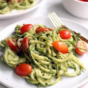 Zucchini Noodles + Pesto