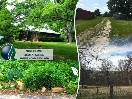 Captivating Brick Ranch Home on 46+/- Secluded Acres. Andrew County, MO. List Price $449,000