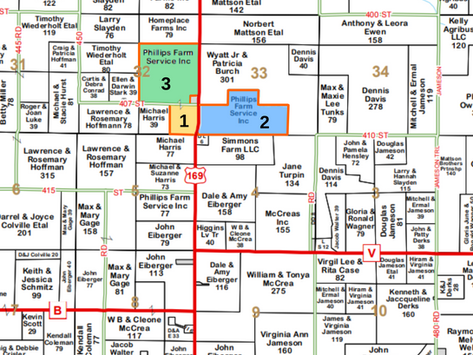 SOLD TRACTS 1 - 3  SEALED BID AUCTION - QUALITY GENTRY COUNTY FARM