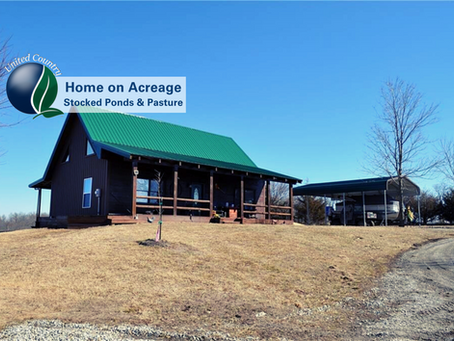 Excellent Opportunity! Home on Acreage-Stocked Ponds & Pasture